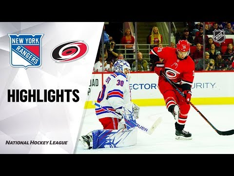 NHL Highlights | Rangers @ Hurricanes 11/07/19