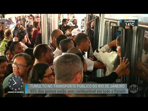 No Rio, redução da frota de ônibus prova tumulto na cidade | SBT Brasil (25/05/18)