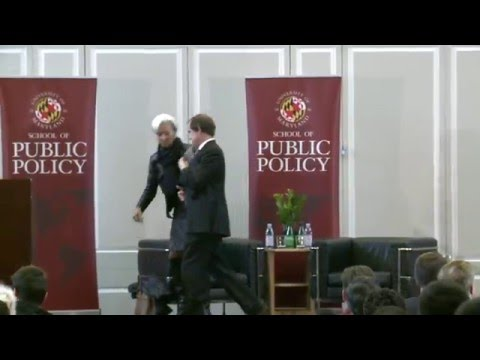 UMD School of Public Policy | Christine Lagarde Discusses th