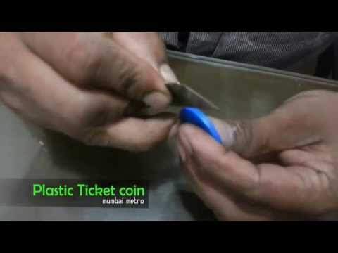 Metro ticket coin out and inside