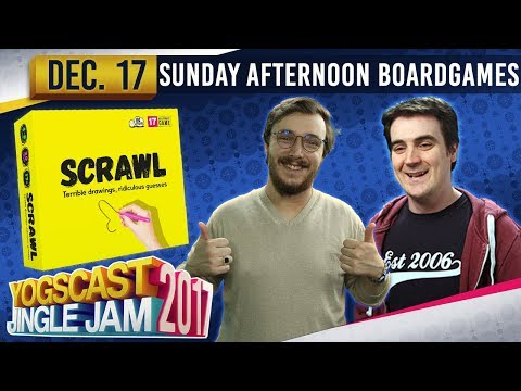 SUNDAY AFTERNOON BOARD GAMES - Scrawl - YOGSCAST JINGLE JAM - 17th December 2017