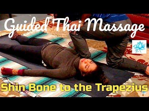 Fantastic Guided Thai Massage for Trapezius | Partner Yoga for Shoulders