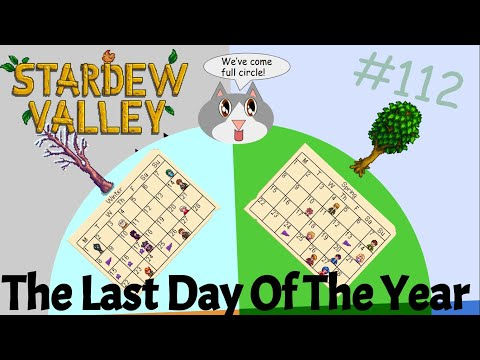 Fall Calendar Stardew.Stardew Valley 112 The Last Day Of The Year Youtube