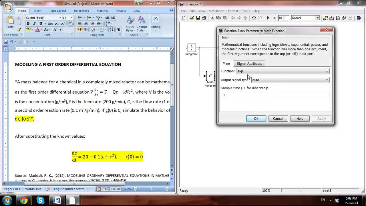 Matlab/octave differential equation | sharetechnote.