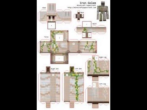 papercraft: EP 4: Iron Golem - YouTube