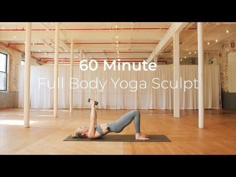60 Minute Total Body Yoga Sculpt with Kaylie Daniels // Power Sculpt Barre Cardio HIIT Pilates //