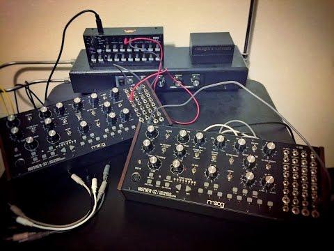 Moog Mother 32 (x2) + Korg SQ-1 = Second Quick Test