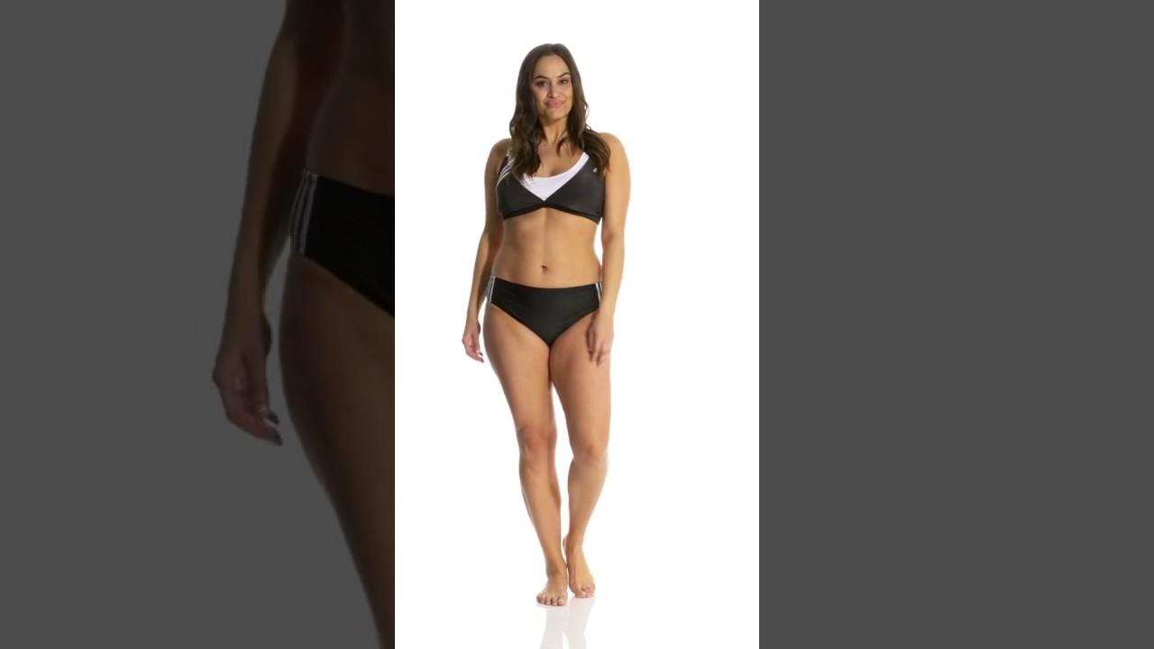 5b2c6101b99 Adidas Women s Plus Size Light as a Heather Sport Bikini Top ...