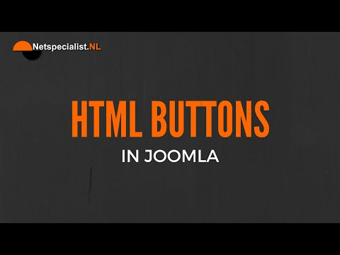 Html Buttons In Joomla