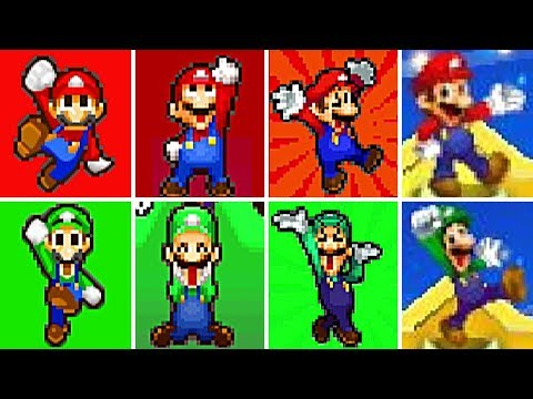 Evolution of Mario & Luigi Series VICTORIES and LEVEL UP Screens (2003-2017)