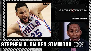 Stephen A. says Ben Simmons can't shoot and that's why the 76ers won't win NBA title | SportsCenter