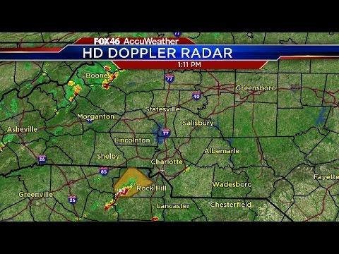 Severe thunderstorms impacting Charlotte region