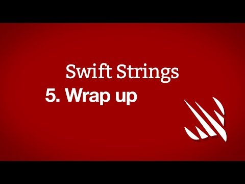Wrap up – Swift Strings, part 5 thumbnail