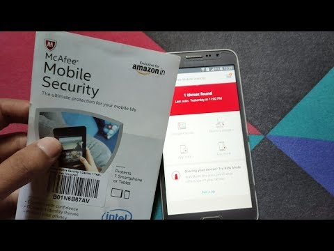 How To Activate Mcafee Antivirus Product Key | Mcafee Mobile Security 1 Year  Activation Key Card
