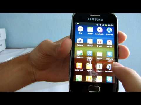 Samsung Galaxy Ace Plus S7500 okostelefon szoftver bemutató videó - mobilxTV