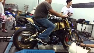 Turbo Buell XB12 first steps on a dyno