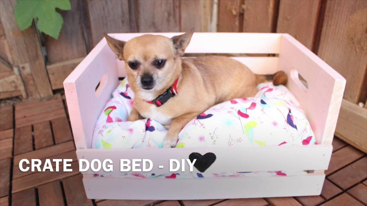 Easy Dog Crate Bed   DIY
