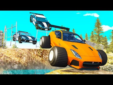Police Chases vs Sports Cars crashes #15 - Beamng drive