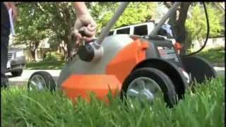 Worx electric lawn mower Video