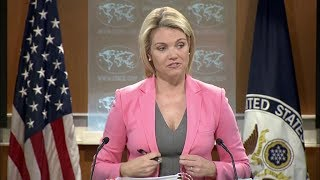 MUST WATCH: US State Department URGENT Briefing with Heather Nauert 1-26-18