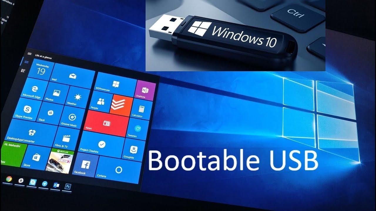 how to make windows 10 bootable usb using rufus