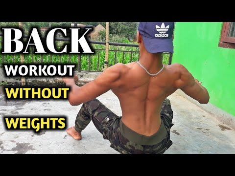 Back Workout Without Weights | Poor man's gym | ANISH FITNESS |