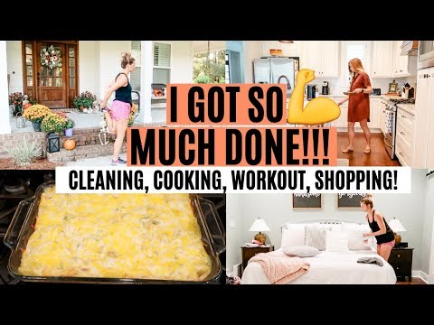 CLEAN WITH ME 2019 // CLEANING MOTIVATION, WORKOUT, COOKING, SHOPPING // GET IT ALL DONE!