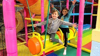 Zack and family have fun playing at the Indoor Playground for kids