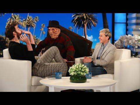 John Krasinski Gets a Scare on Ellen's Street