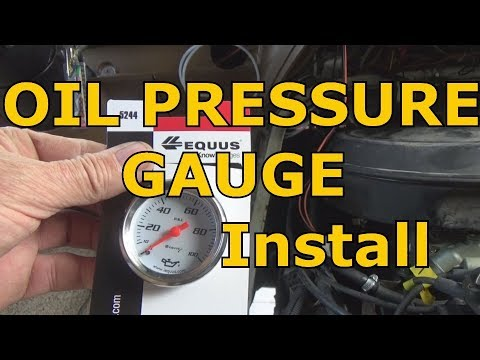 Hook up oil pressure gauge chevy 350