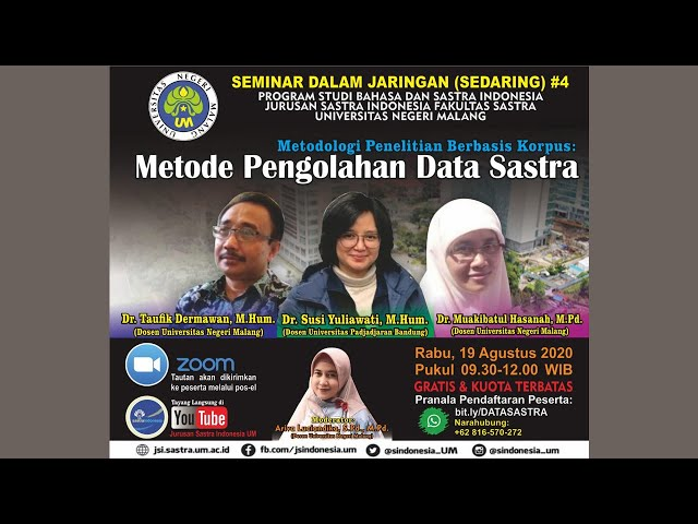 Sedaring #4 Prodi Bahasa dan Sastra Indonesia