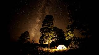 เสียงเพราะๆกลางป่ายามค่ำคืนกับกองไฟ บรรเทาและผ่อนคลายความเครียด
