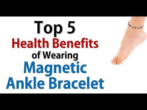 Wearing Magnetic Ankle Bracelet