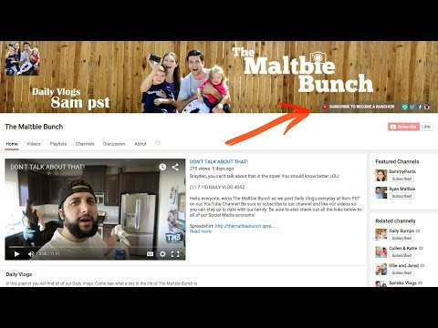 How to add Social Media Icons to your YouTube Banner!