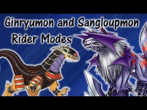 unlocking ginryumons and sangloupmons rider modes