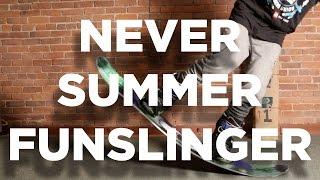 Never Summer Funslinger Snowboard Flex Test - Board Insiders - 2016 Never Summer Funslinger