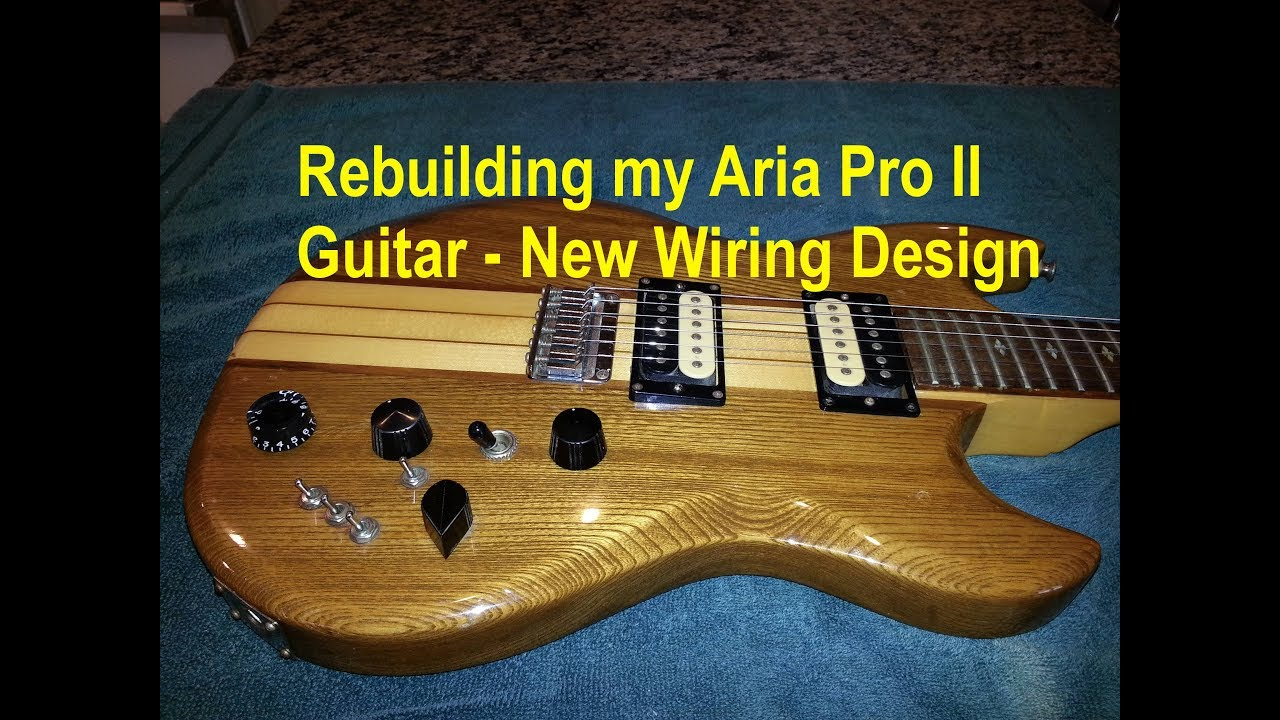 Rebuilding My 79 Aria Pro II Guitar with new wiring design and new pickups.