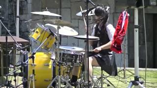 Download ガールズロックバンド革命ドラムJunnaイン丸亀お城祭り2016② Mp3