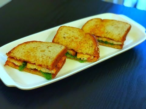 Grilled Tofu Sandwich Recipe | Healthy & Tasty Indian Breakfast Recipe | Tofu Recipes | Veg Sandwich