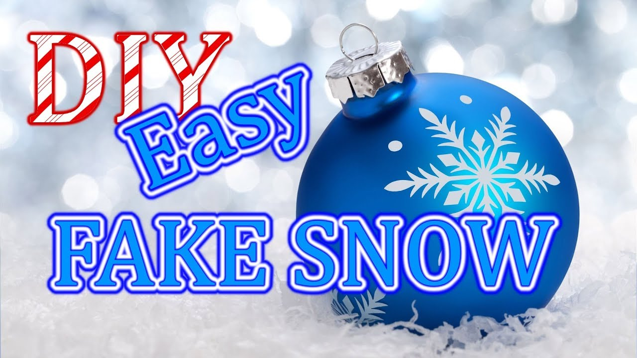 How To Make Fake Snow In One Minute Christmas Crafts For Kids