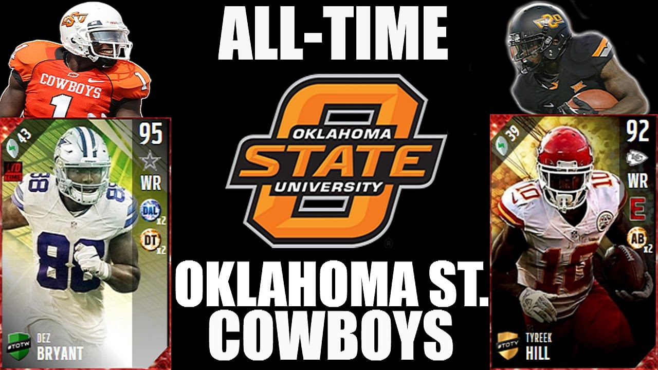All Time Oklahoma State Cowboys Team Dez Bryant And Tyreek Hill Madden 17 Ultimate Team