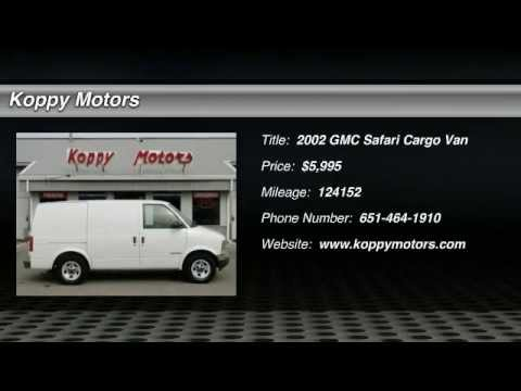 Used 2002 gmc safari cargo van forest lake hinckley for Koppy motors of hinckley
