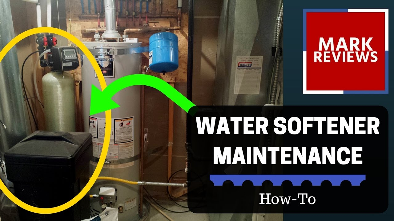 How To Maintain A Water Softener How To Water Softener Maintenance Youtube