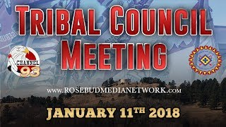 Regular Tribal Council Meeting (01-11-18)