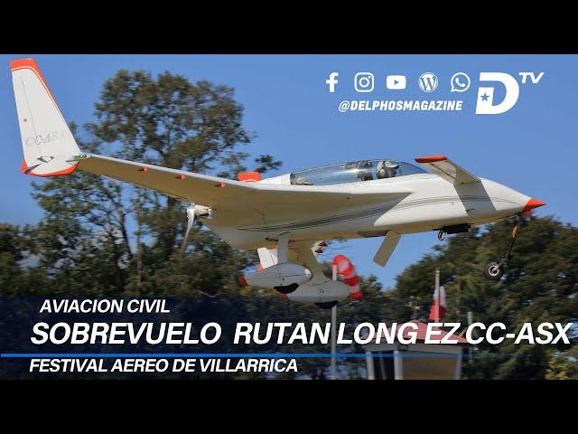 Sobrevuelo Rutan Long EZ durante el Festival Aéreo de Villarrica 2020