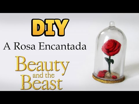 DIY: How to Make Miniature Enchanted Rose  - Beauty and Beast Tutorial - Cold Porcelain
