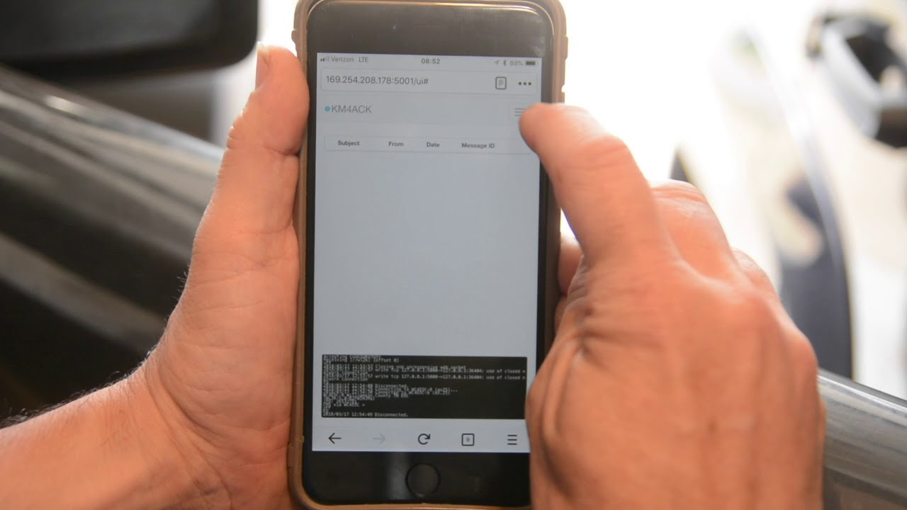 Raspberry Pi Mobile Winlink Client with an iPhone interface