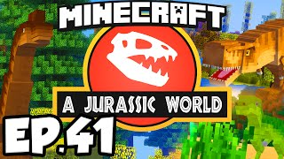 Jurassic World: Minecraft Modded Survival Ep.41 - T-REX DINOSAURS EXPANSION!!! (Rexxit Modpack)