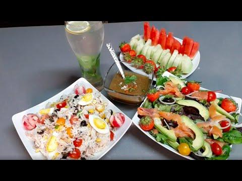 salade-de-riz-,-gaspacho-et-salade-avocat-saumon-saumon-اليوم-حرارة-بزاف-علاش-ما-ناكلوش-بارد