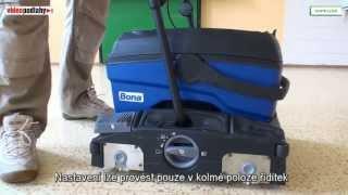 Bona POWER Scubber čistící stroj na čištění podlahy v interiéru a exteriéru